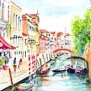 Venice Canal Boscolo Venezia Poster
