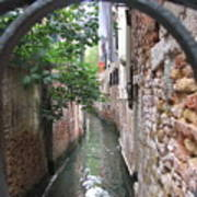 Venice Canal Through Gate Poster by Italian Art