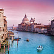 Venice Canale Grande Italy Poster by Dominic Kamp Photography