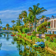 Venice Canals And Houses 4 Poster