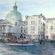 Venice Grand Canal Watercolour  Poster