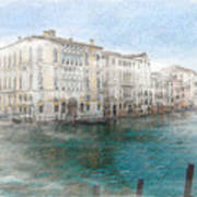 Venice Grand Canal Watercolour Painting Poster
