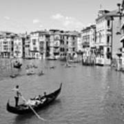 Venice In Black And White Poster