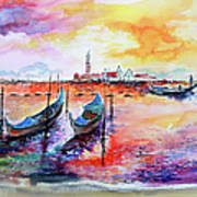 Venice Italy Gondola Ride Poster