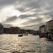 Venice Italy - Pearly Skies On The Grand Canal Poster