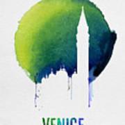Venice Landmark Blue Poster