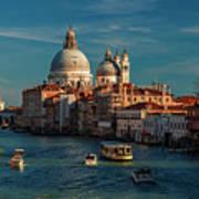 Venice Morning Traffic Poster