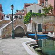 Venice Piazzetta And Bridge Poster