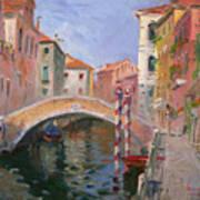Venice Ponte Vendrraria Poster