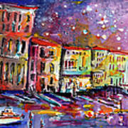 Venice Reflections Celebrating Italy Painting Poster by Ginette Callaway