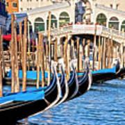 Venice Sunny Rialto Bridge Poster