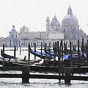 Venice Waterfront Poster