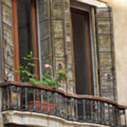 Venice Windows And Shutters Poster