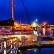 Ventura Harbor At Night Poster