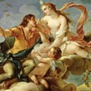 Venus And Adonis  Poster by Charles Joseph Natoire