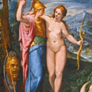Venus And Minerva In A Landscape Poster