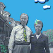Vera And Al As The Simpsons Poster