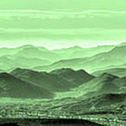 Verdant Hills Of The Tonto Poster