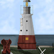 Vermillion River Lighthouse On Lake Erie Poster