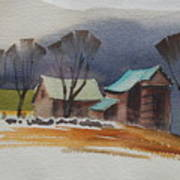 Vermont Barns  Sketch Poster