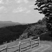 Vermont Countryside 2006 Bw Poster