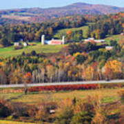 Vermont Countryside View Pownal Poster