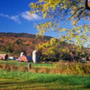 Vermont Farm In Autumn Poster