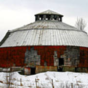 Vermont Round Barn Poster