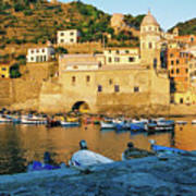 Vernazza, Italy, At Sunset Poster