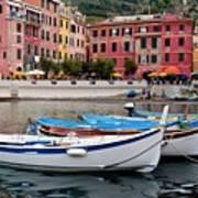 Vernazza Fishing Boats Poster