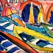 Up Close Skiffs Of Manarola  Poster