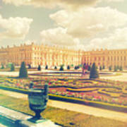 Versailles Gardens And Palace In Shabby Chic Style Poster