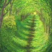 Vertical Tree Tunnel Poster