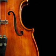 Vertical Violin Art Poster