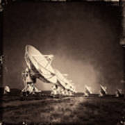 Very Large Array Sepia Poster