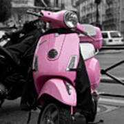 Vespa In Pink Poster by Edward Myers