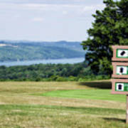 Vesper Hills Golf Club Tully New York 1st Tee Signage Poster