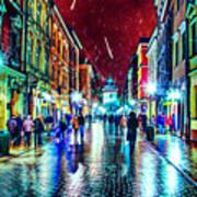 Vibrant Night Life Poster