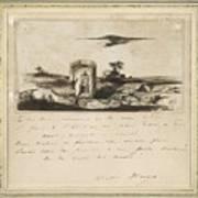 Victor Hugo   Landscape   1837 Poster