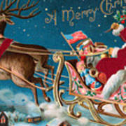 Victorian Christmas Card Poster