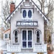 Victorian Cottage Watercolor Poster