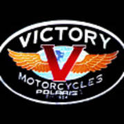 Victory Motorcycles Emblem Poster