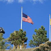 Vietnam Memorial Angel Fire New Mexico Poster