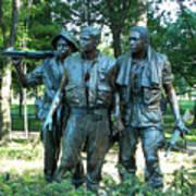 Vietnam War Memorial Statue Poster
