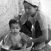 Vietnamese Orphan Bathing Poster