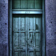 Vieux Carre' Doorway At Night Poster