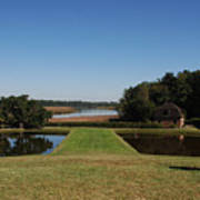 View Down To The Ashley River At Middleton Place Plantation Charleston Poster