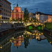 View From A Bridge - Ljubljana - Slovenia Poster