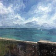 View From Bermuda Naval Fort Poster