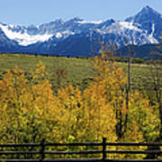 View From Hwy 62, Ouray County, Co Poster